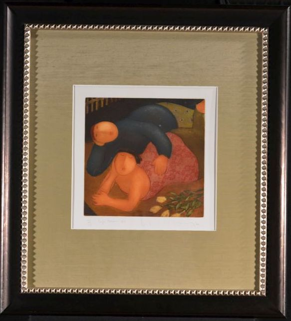 Safe Haven Six, Framed Pencil Signed Etching by Eng Tay,