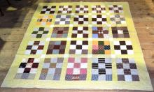 Patchwork quilt, yellow field