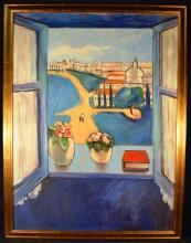 Large framed work, view from a window, 48
