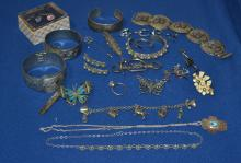 Collection of sterling silver and costume jewelry