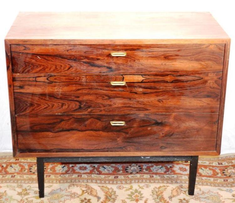 Mid century modern rosewood 3 drawer chest 36 w x 18 l 30 h for Mid century modern toy box