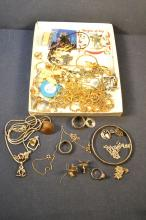 Collection of costume and silver jewelry