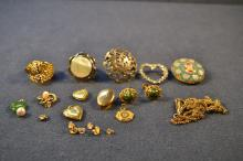 Collection of gold filled and other costume jewelry