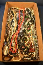 Collection of bead costume jewelry