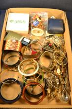Collection of costume jewelry, bracelets, watches, etc. including Goebel