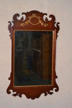 Mahogany Chippendale style wall mirror