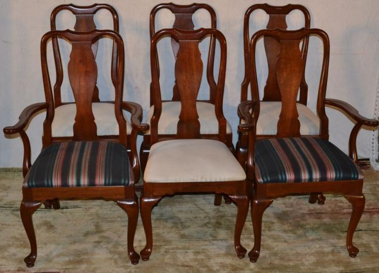 Six Cherry Knob Creek Queen Anne Style Dining Room Chairs