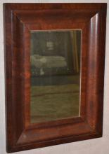 Mahogany ogee framed portrait wall mirror