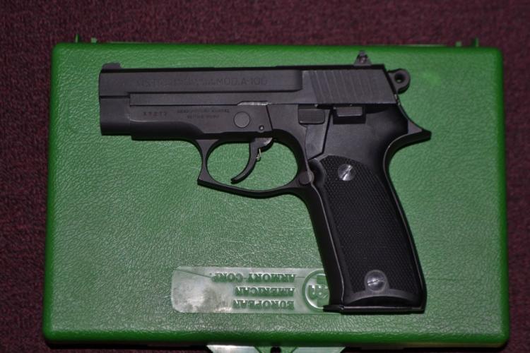 Astra model A-100 double action 9mm semi auto pistol, s