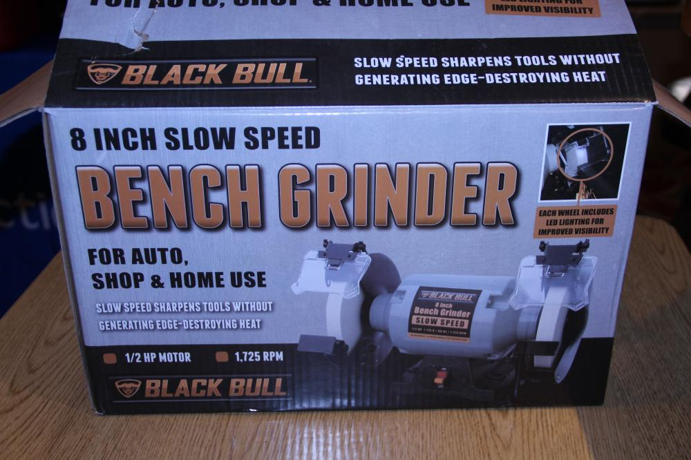 Cool Black Bull 8 Slow Speed Bench Grinder Alphanode Cool Chair Designs And Ideas Alphanodeonline