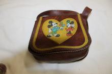 Original mickey and minnie leather pocket book (Disney)