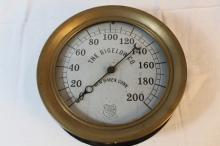 Beautiful brass vacuum gauge