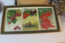Three framed greens nursery company catalogs