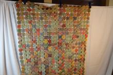 Beautiful decorated vintage quilt