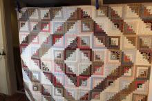 Multi-colored Victorian quilt