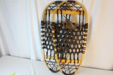 Pair of snow craft bear paw snow shoes