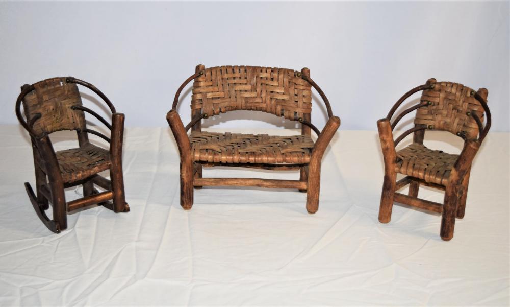 Salesman Sample Adirondack Style Set