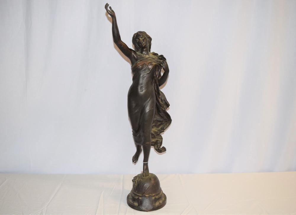 Vintage Etoile Du Matin Bronze Sculpture