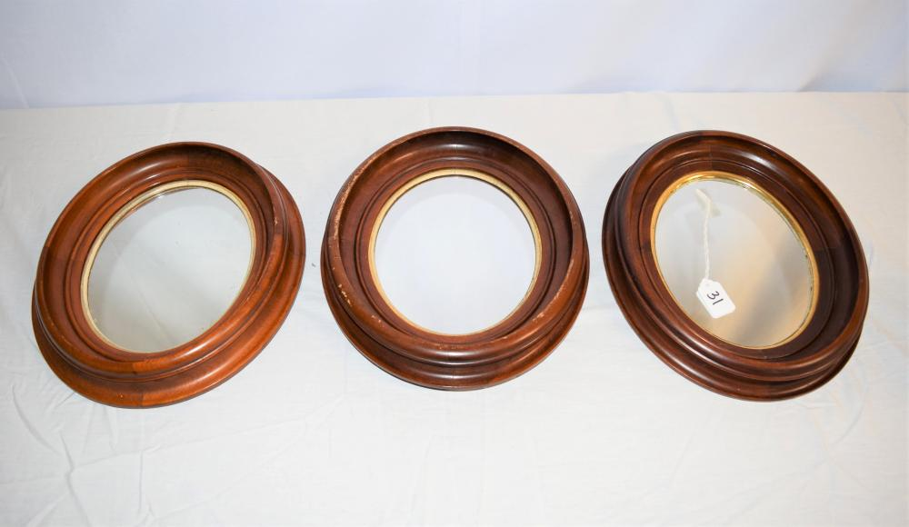 Three Victorian Walnut Mirrors