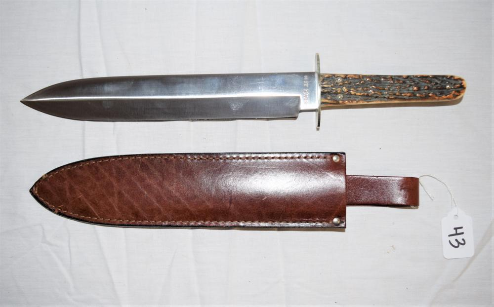 Case XX 90 Hunting Knife with Antler Handle