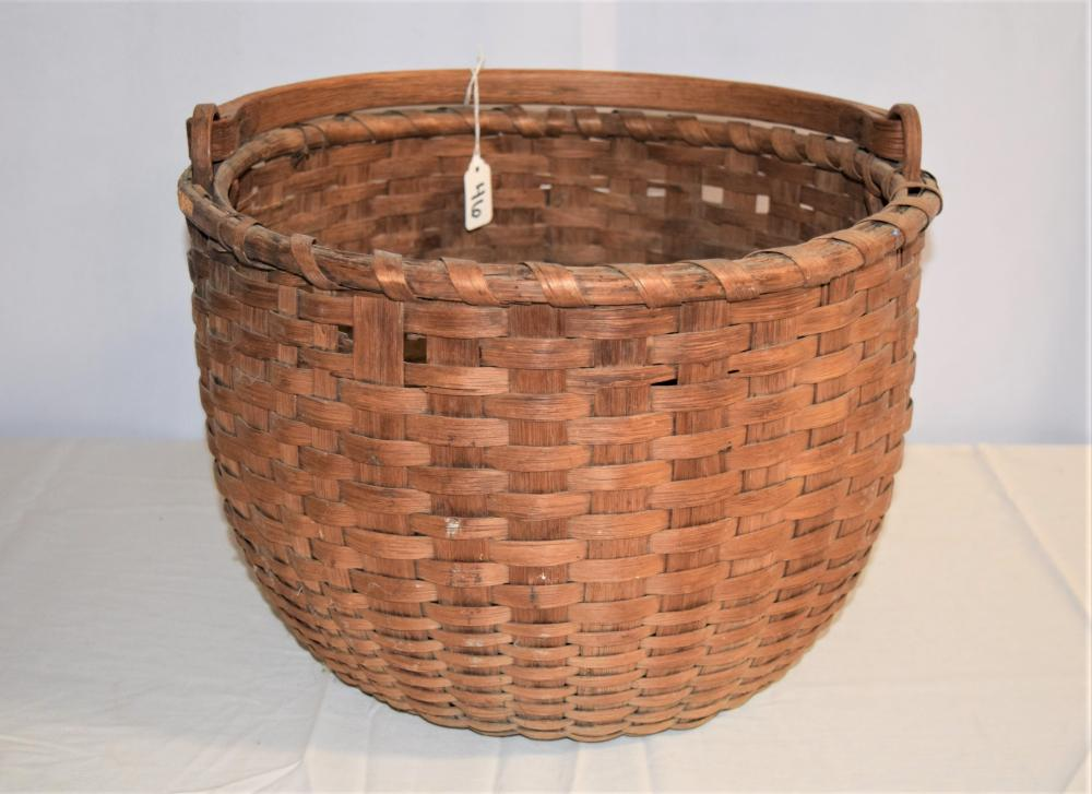 Large New England Swing Handle Basket