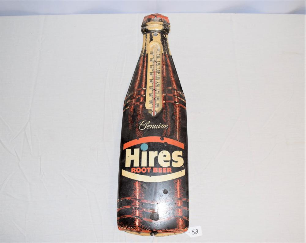 Vintage Hires Root beer AD Thermometer