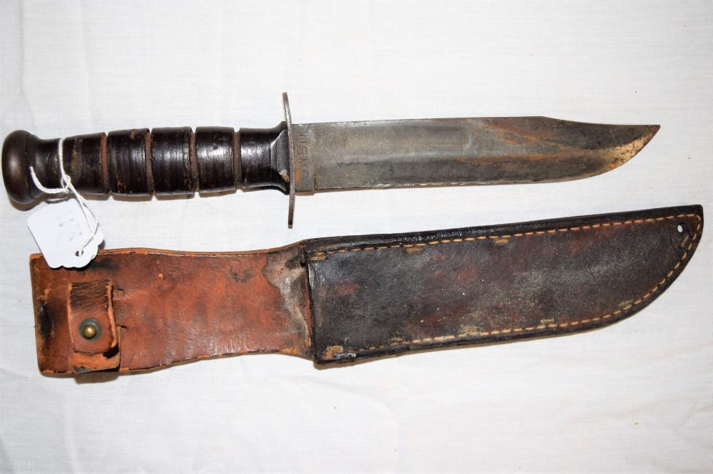 WWII JPCs Marine Corp Knife with Sheath