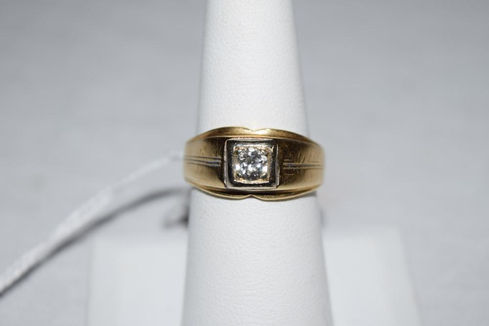Estate 14K Gold Ring with Diamond