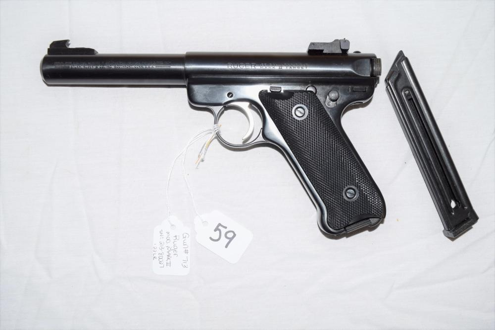 Ruger Mark II Target Pistol .22 CAL