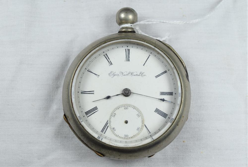 Vintage Silveroid Case Elgin Pocket Watch