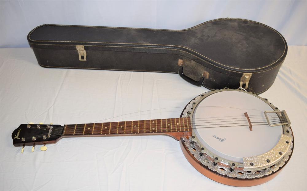 Framus Six String Banjo with Case