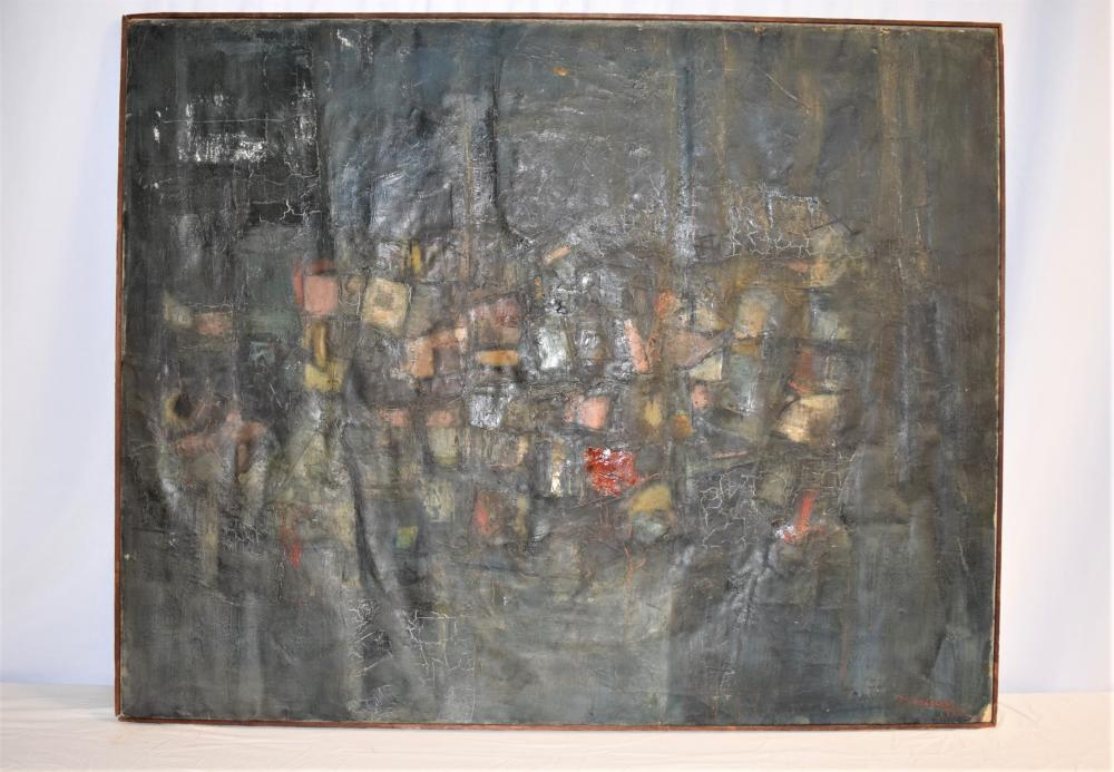 Large Oil on Canvas Signed M. Morley