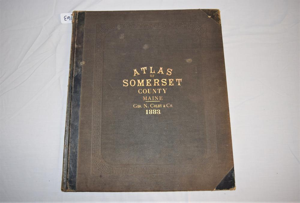 Vintage 1883 Atlas of Somerset County Maine
