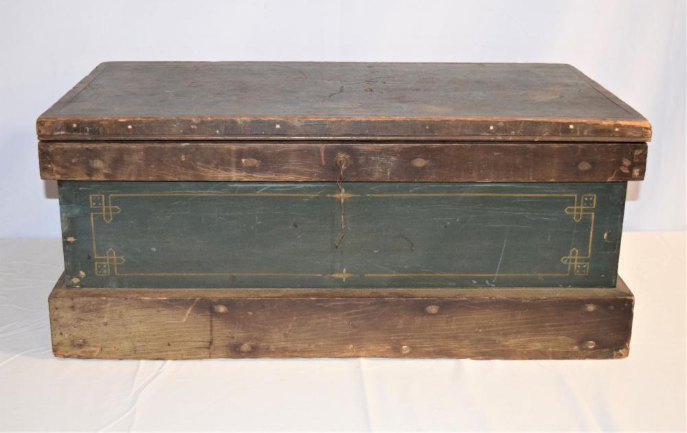 Antique 1886 Decorated Document Box