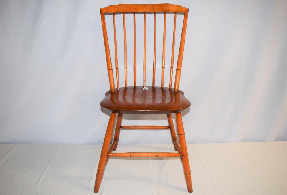 Antique New England Step Down Windsor Chair