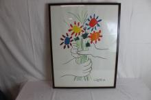 Picasso litho, Bouquet of Peace 1958