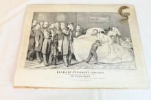 Currier and Ives death of President Lincoln