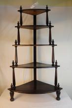 Victorian walnut what-not shelf
