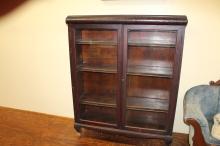 Two door mahogany antique book case