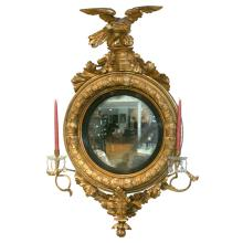 Regency Convex / Bull's Eye Girondole Mirror