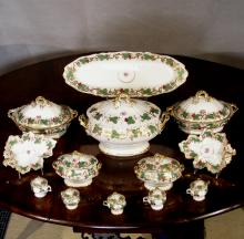 Antique Paris Porcelain Set of Serving Pieces, Ca. 1850