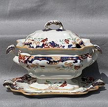 Mason's Ironstone Soup Tureen and Stand, Ca. 1850