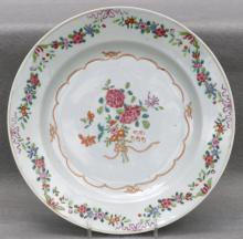 Chinese Export Porcelain Dinner Plate, Ca. 1800