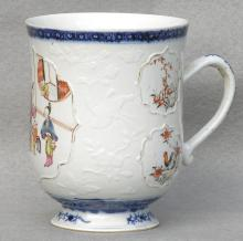Chinese Export Porcelain Bell Shaped Mug, Ca. 1760