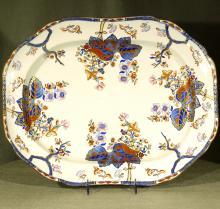 Colorful Spode Ironstone Platter, Ca. 1840