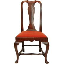 American Queen Anne Side Chair Maple and Tiger Maple Ca. 1750