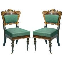 Important American Rosewood Classical Side Chairs, Philadelphia ca. 1830