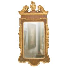 Stately George II or George III Mahogany and Gilded Mirror, Ca. 1760