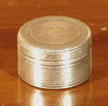Georgian Sterling Silver Patch or Pill Box, Phipps and Robinson