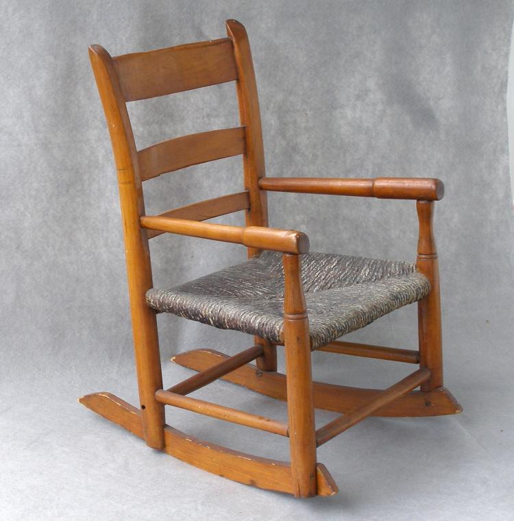 antique childs rocking chair Antique Child's Rocking Chair, Ca. 1840 antique childs rocking chair